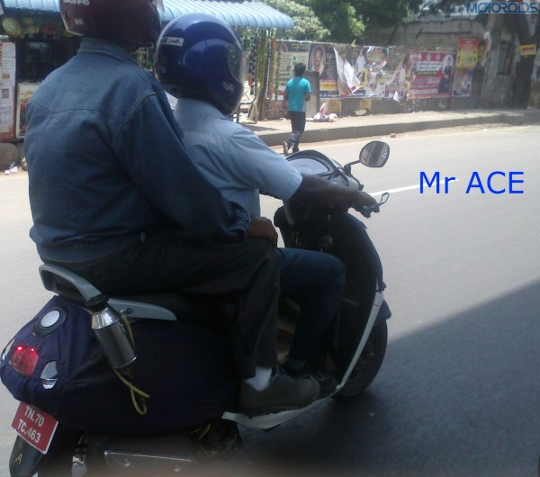 TVS 'male specific' 125cc scooter spotted testing in Chennai