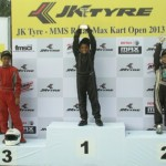 Paul, Tejas & Arjun crowned champions at the JK Tyre-MMA Rotax Max Kart Open 2013