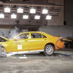 2014 Mercedes S Class undergoing crash tests