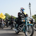 Royal Enfield Himalayan 2013 Odyssey flagged off from India Gate