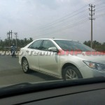 Toyota Camry Hybrid India launch soon. Spotted testing