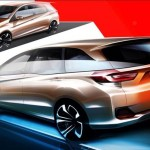 Honda Brio MPV public debut on Sep 19. Official sketch released