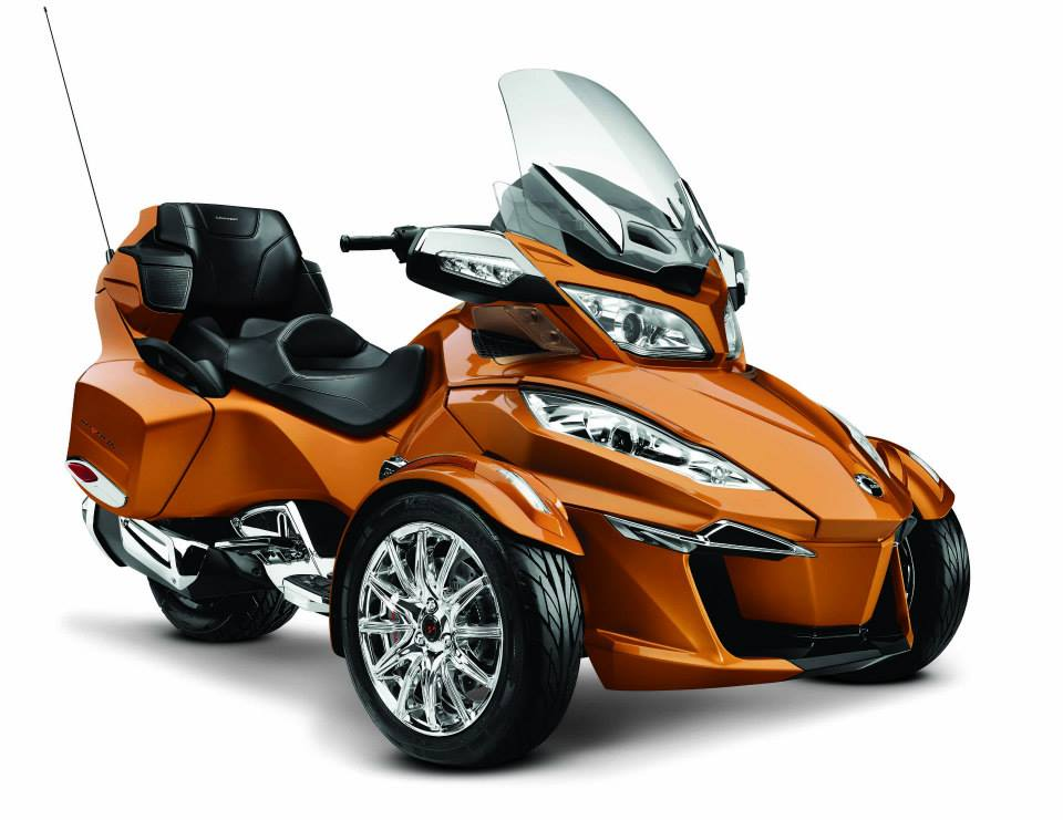 Can-Am Spyder RT 2014 model gets a new inline triple engine