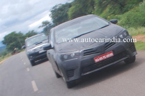 New 2014 Toyota Corolla Spotted in India