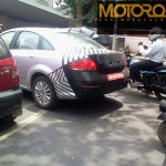 India-bound 2013 Fiat Linea Facelift spotted testing in Pune