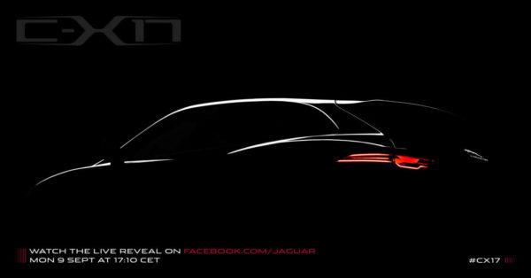 Jaguar C-X17 Concept teased ahead of its Frankfurt Debut
