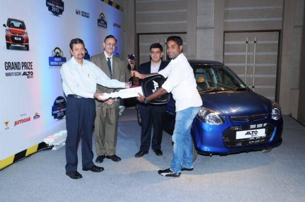 Maruti Suzuki Autocar Young Driver 2013 held in Delhi. Winner Announced