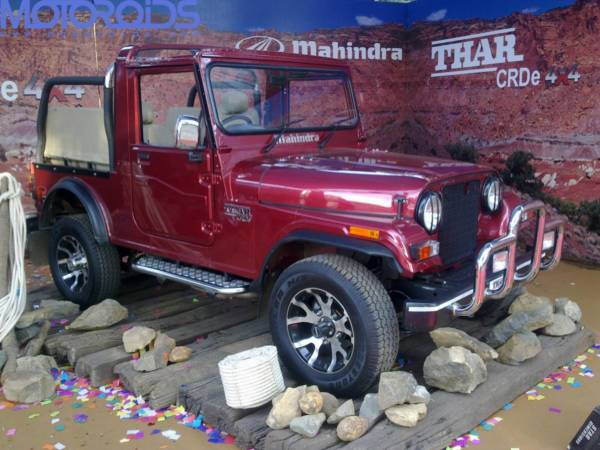 The Mahindra Thar gets some minor updates