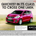 Over 100,000 Maruti Ertiga MPVs sold in just 17 months!