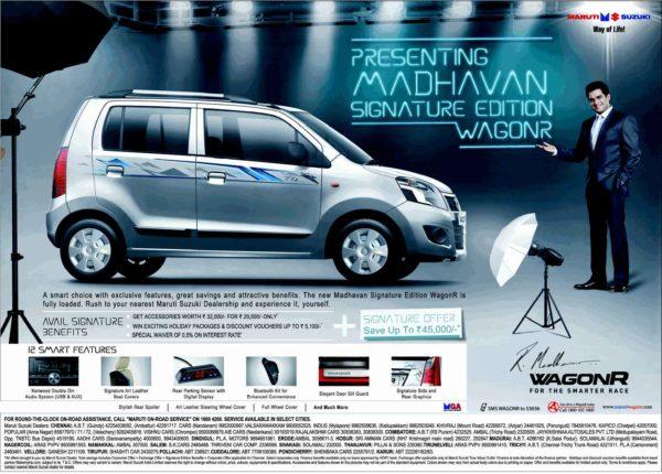 R.Madhavan Fans Rejoice! Maruti Wagon R Madhavan Signature Edition Launched