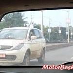 Tata Aria Facelift Spotted Testing Again