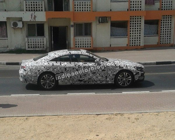 Upcoming 2015 Mercedes S Class coupe spotted testing in Dubai