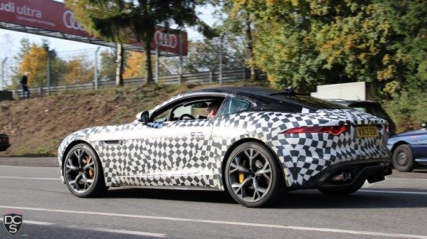 Jaguar F Type Coupe spotted again. Detroit debut likely