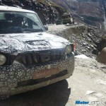 Mahindra Scorpio facelift 2013 spotted testing in Manali