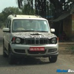 Mahindra Scorpio 2013 facelift spotted again. Seen sporting a 'Bolero-like' grille