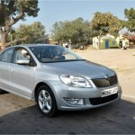 Skoda Rapid 2014 model sports projector headlamps and multi-function steering wheel