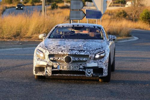 Upcoming 2015 Mercedes Benz S63 AMG Coupe Spied with Production Bumper