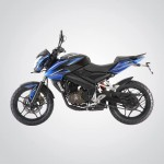 Pulsar 200NS in Blue and Black: Yet another new paint scheme for the Bajaj flagship
