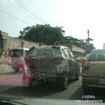 Mahindra S101 compact SUV spotted testing