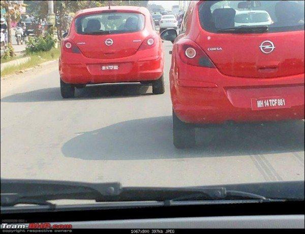 Opel Corsa 3 Door hatchback Caught Testing in Bangalore again