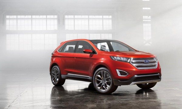 Ford Edge concept unveiled in Europe. Previews upcoming large premium SUV