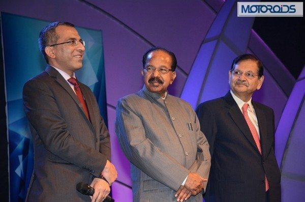 L to R - Mr. Vivek Law, Mr. Veerappa Moily & Mr. Gajendra Haldea