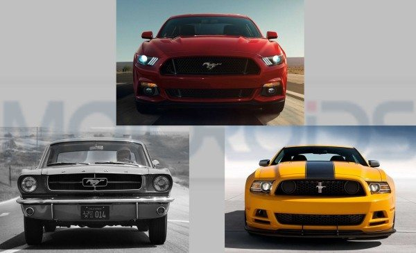 We put the new 2015 Ford Mustang with last gen and original model to check which one looks the coolest