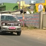 Upcoming 2014 Mahindra Scorpio facelift spotted again