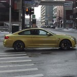 New 2014 BMW M4 coupe spotted in downtown Detroit prior to NAIAS debut