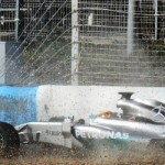 VIDEO- Lewis Hamilton Crashes While Testing the 2014 Mercedes-Petronas WO5