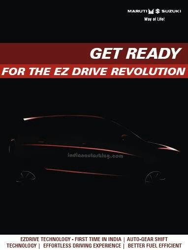 Maruti Celerio AMT transmission to be sold as EZ Drive. Teased