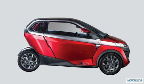 new car launches of bajajAuto Expo 2014 LIVE Bajaj UCar Concept Debut Launch  Images