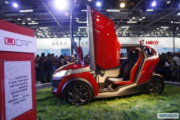 Auto Expo 2014 LIVE Bajaj UCar Concept Debut Launch  Images