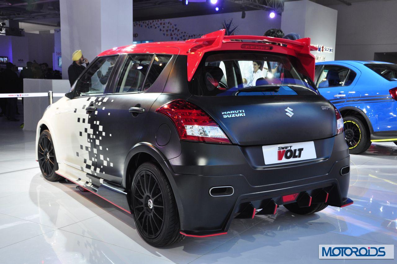 Maruti suzuki swift volt auto expo 2014 4 jpg 1280 850 wheels pinterest suzuki swift custom cars and cars