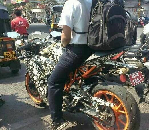 KTM RC390 India launch soon; spy image surfaces