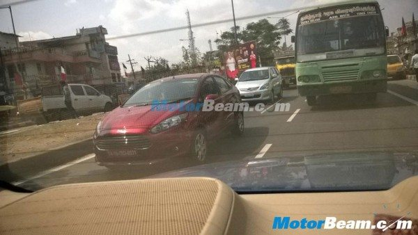 New 2014 Ford Fiesta facelift India launch soon; More spy images surface