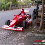 Formula1 fan builds a Ferrari F1 replica for $4000