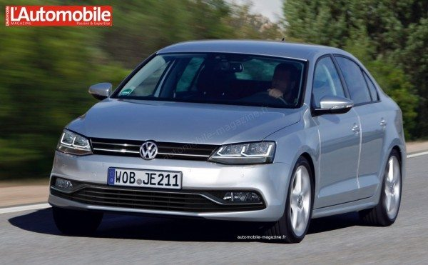 Upcoming 2015 Volkswagen Jetta facelift visualized; New York debut