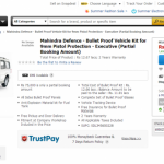 Fancy a bulletproof Mahindra Scorpio? Check this out!
