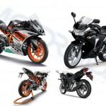KTM RC200 vs Honda CBR250R: Spec Sheet Comparison