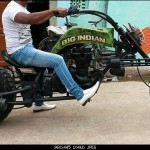 How about this wacky Royal Enfield modification?