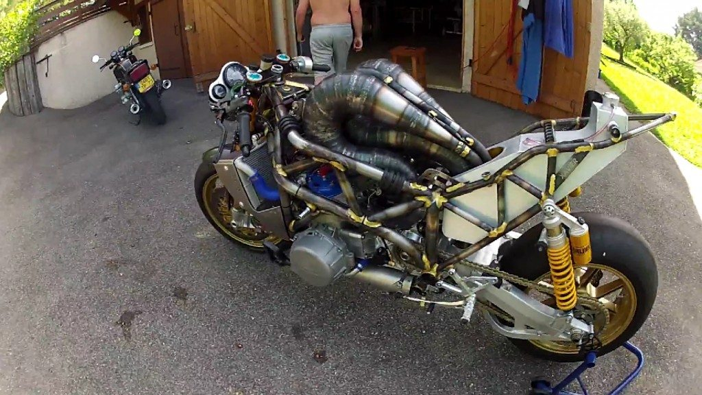Home Made 3 Cylinder 700cc Motorcycle