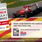 Shell Helix Ultra MyCar Contest: Win a trip to Belgium Grand Prix 2014