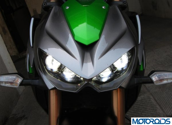 2014 Kawasaki Z1000 projector headlights