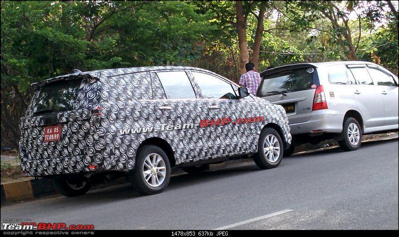 Upcoming 2016 Toyota Innova Spied near Bangalore | Motoroids