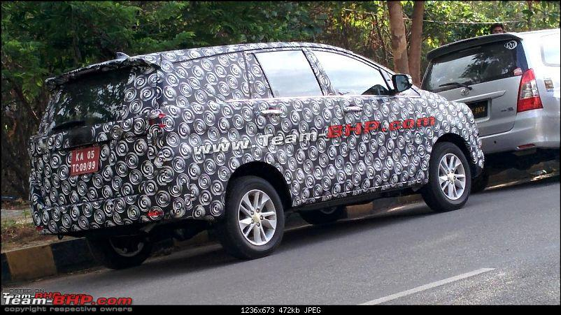 innova the upcoming new gen mpv was spied near bangalore and gets a