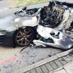 Audi R8 V10 goes up in flames