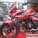 Faired version of Bajaj Discover 150 spotted at dealership