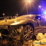 Ferrari F430 crashes after police chase