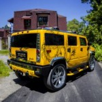 Vilner modified yellow Hummer H2 gets Chinese dragon theme